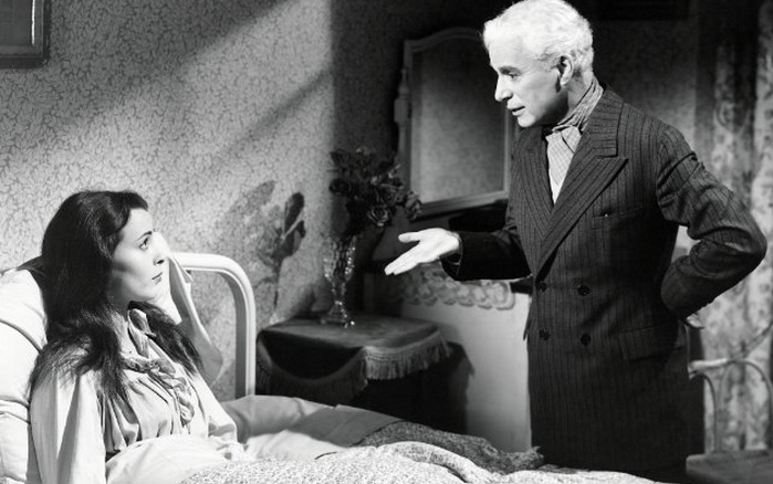 Charles Chaplin e Claire Bloom em Luzes da Ribalta