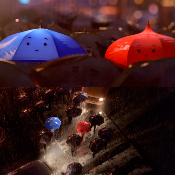 universidade monstros, guarda-chuva azul, the blue umbrella, curtas da pixar