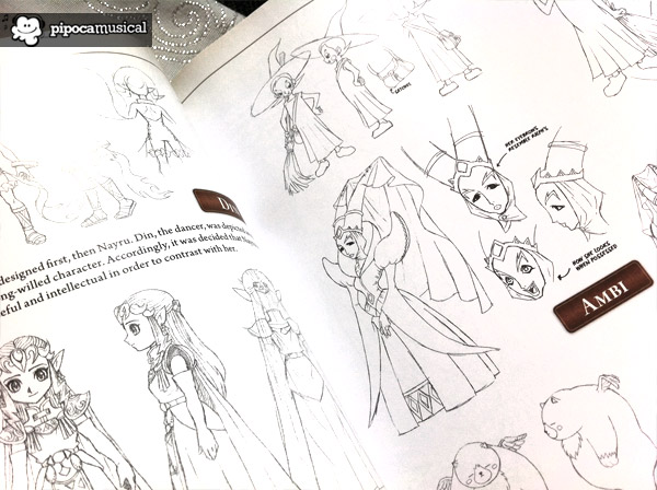 hyrule historia, 25 anniversary zelda, book hyrule historia, pipoca musical, the legend of zelda, sketches zelda, ambi faces
