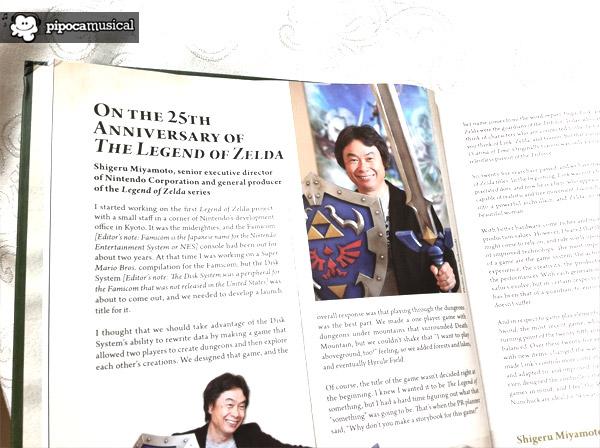 hyrule historia, 25 anniversary zelda, book hyrule historia, pipoca musical, the legend of zelda, shigeru miyamoto, carta miyamoto zelda