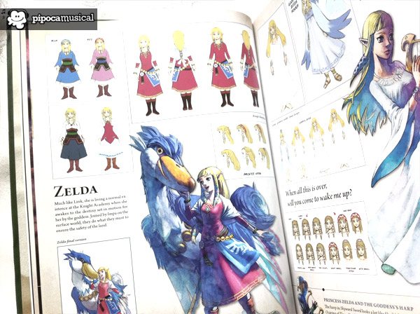 hyrule historia, 25 anniversary zelda, book hyrule historia, pipoca musical, the legend of zelda, sketches zelda, creative footprints zelda