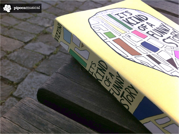 its kind of a funny story book, book ned vizzini, pipoca musical resenhas, livro se enlouquecer nao se apaixone, livros ned vizzini, book challenge raquel moritz