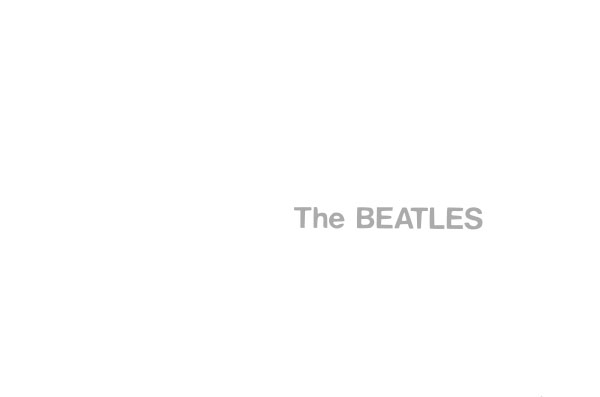 beatles white album cover