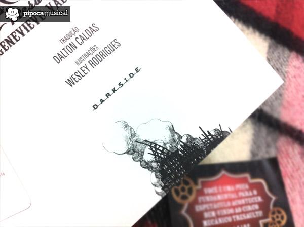 livro circo mecanico, circo mecaniso tresaulti, livro tresaulti, genevieve valentine livro, livros darkside books, pipoca musical, desenhos wesley rodrigues