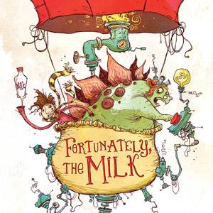 Em busca do leite das crianças em Fortunately, the Milk, livro de Neil Gaiman