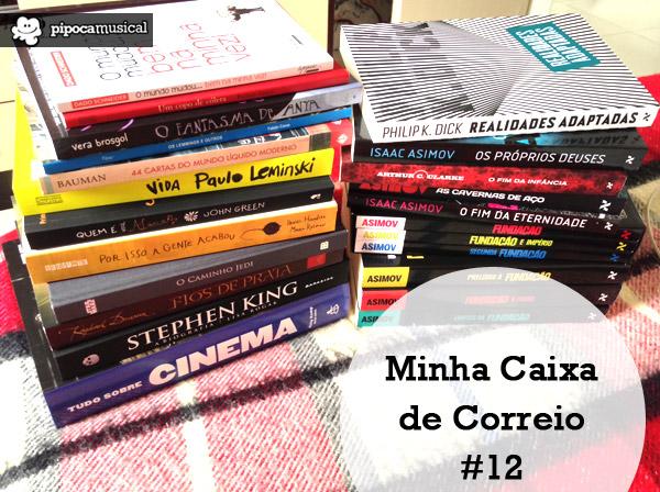 minha caixa de correio pipoca musical, livros raquel moritz, dicas de livros, meta leitura 2014, pipoca musical