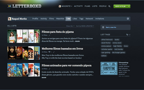 como usar letterboxd, letterboxd how to use
