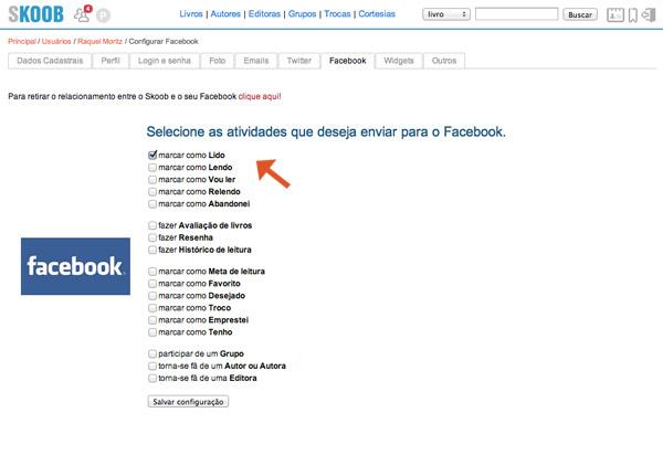 como usar o skoob, skoob rede social literatura, como integrar redes sociais skoob