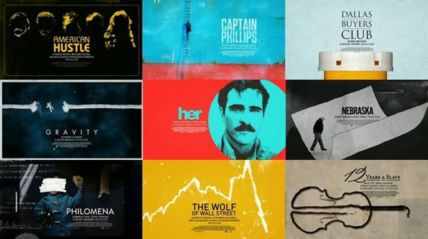 Os indicados ao Oscar de Melhor Filme em 2014.