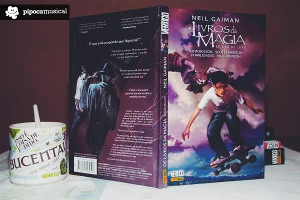 neil gaiman livros da magia, panini livros magia, panini gaiman, pipoca musical, bruno trindade, graphic novel