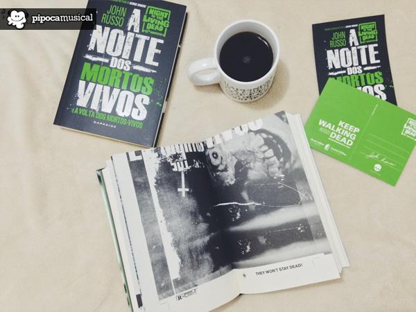 noite mortos vivos livro, mortos vivos capa dura e brochura, livros darkside books, pipoca musical