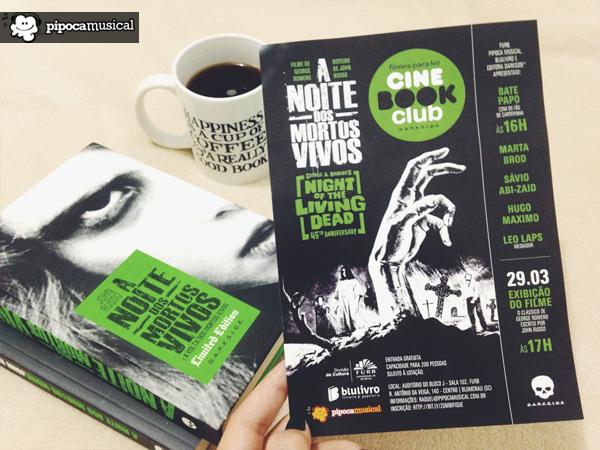 noite mortos vivos, cine book club blumenau, livros darksidebooks, eventos darkside books, pipoca musical, literatura em blumenau