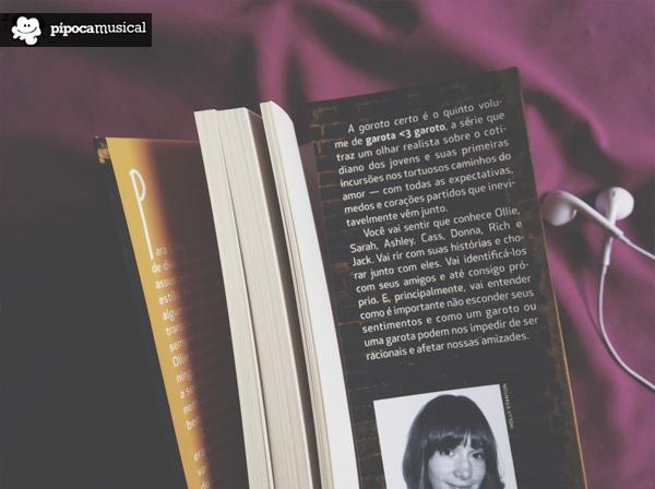 livros ali cronin, garota <3 garoto, editora seguinte, pipoca musical