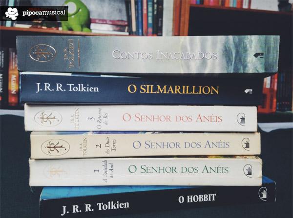 livros tolkien, contos inacabados, silmarillion, pipoca musical