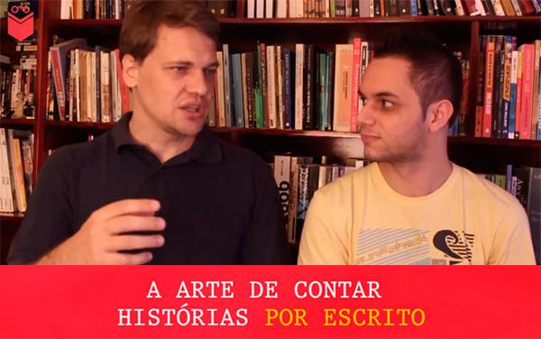 Maicon Tenfen e Vilto Reis conversam sobre como desenvolver seu talento literário.