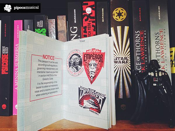 passaporte, livro star wars, darkside pipoca musical