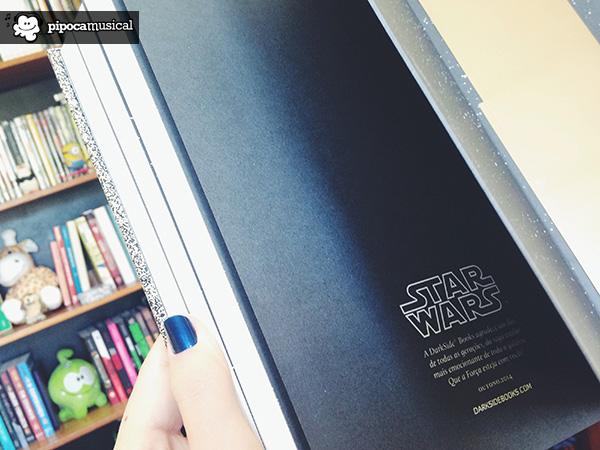 agradecimento livro star wars, darkside pipoca musical