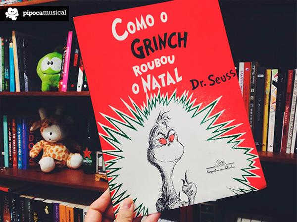 livro conto grinch natal, pipoca musical
