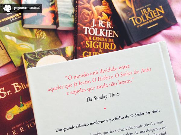o hobbit livro tolkien, wmf martins fontes, livro tolkien capa dura, pipoca musical