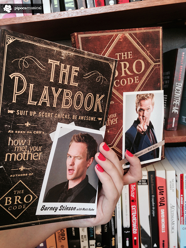 livros how i met your mother, barney stinson, the playbook, bro code, pipoca musical
