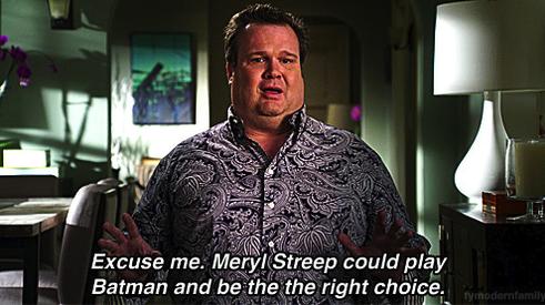 Meryl Streep Batman Modern Family