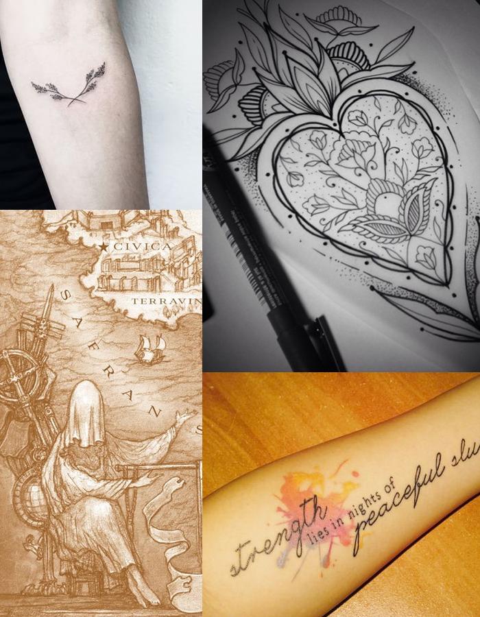 Tatuagens Literárias - DarkSide Books - Kiss of Deception