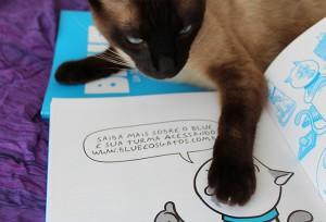 Blue e os Gatos: tirinhas para quem tem e ama gatos