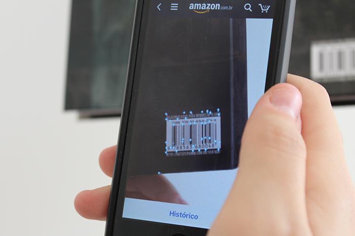 Como usar reconhecimento visual do app AMAZON