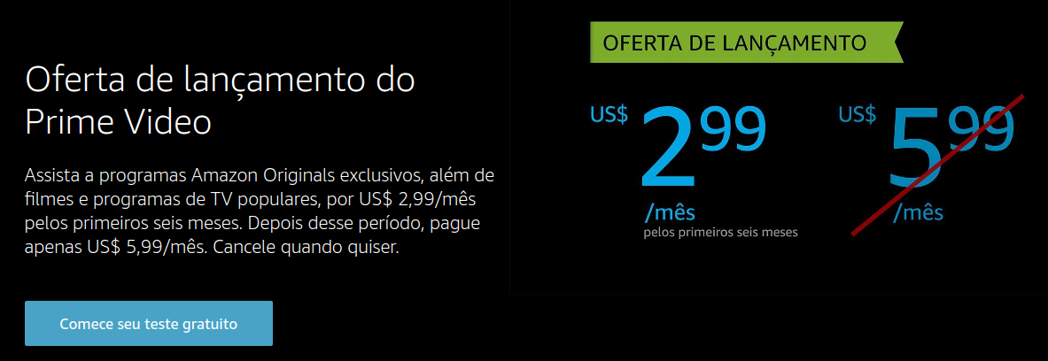 Amazon Prime Video - Preços