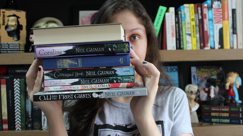Meus livros em inglês do Neil Gaiman